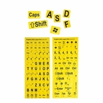 Large Print Keyboard Stickers, Yellow/ Black