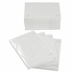 Merax Two-disc DVD Storage Case, White, 10-pack