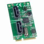 Mini PCI-e 2 Port Sata 6g Card, Non-raid