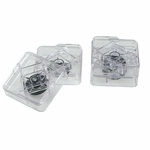 Raise-its Workstation Risers, Clear, 8 PCs