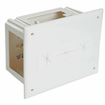 Recessed Media Box, 4 Gang, White