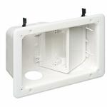 Recessed TV Box W/ Angled Openings, 2-gang