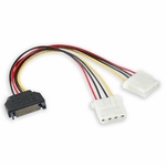 Sata Power Adapter To 2m 4-pin Molex, 6in