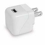 USB Wall Charger, 1 Amp, White