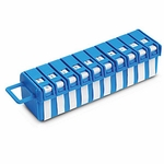 Wire Label Dispenser, 0-9, 760 Markers, .25 In. X1.25 In.