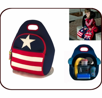 Insulated Stars Stripes Lunch Bag