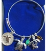 I Love Turtles Charm Bracelet