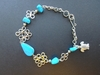Turtle Bracelet with Blue Stones