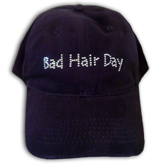 Bad Hair Day Rhinestone Cap (AVAIL in Black or Pink)