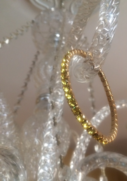 Canary Yellow Swarovski Crystal Lightning Bracelet (Gold or Silver)
