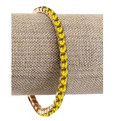 Canary Yellow Swarovski Crystal Bracelet (Gold or Silver)