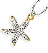 Crystal Clear Starfish Necklace