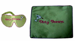 """Dirty Dreams"" Silk Travel Airplane Set"