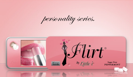 """FLIRT"" Mirror Mint Tin"