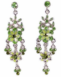 """Greenery"" Floral Chandelier Earrings"