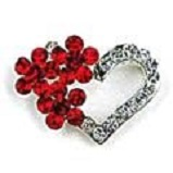 Have a Heart Crystal Pin