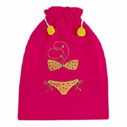 Hot Pink (lined) Bikini Travel Bag