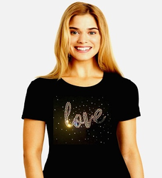 LOVE Rhinestone Shirt