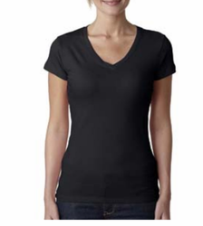 Next Level 3400L Ladies Spoty V Neck