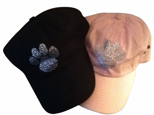 Rhinestone Paw Cap (AVAIL in Pink or Black)