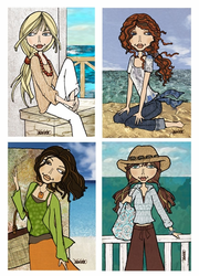 """Sharla by the Sea"" Tippy Canoe Card Collection"