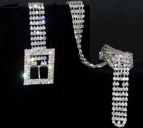 Swarovski Crystal 5 Row Belt