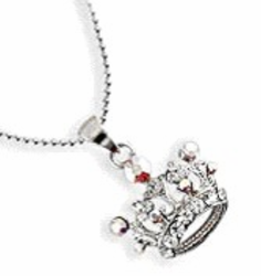 Swarovski Crystal Crown Necklace