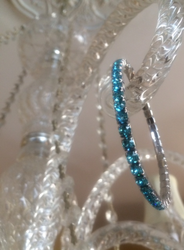 Light Turquoise Swarovski Crystal Lightning Bracelet