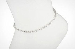 Swarovski Crystal Stretch Anklet Select Your Color