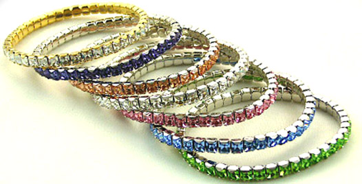 Swarovski Emerald Cut Crystal Bracelet (Select Your FAVE Colors)