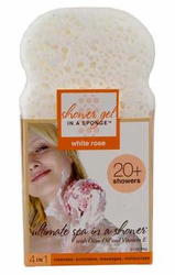 White Rose Soapy Sponge