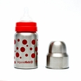 9oz Wide Mouth Stainless Steel Baby Bottle, by organicKidz
