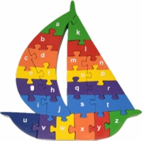Alphabet Sail Boat Puzzle, by Red Fish Toys