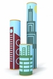 'Buildings' (3 pk) Tube Stickers, by Box Play