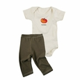 """Pumpkin"" Organic Cotton Bodysuit & Leggings Gift Set, by Kee-Ka"