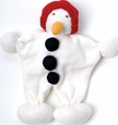 Organic Cotton Snowman Toy & Teether by Under The Nile