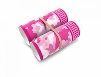 (Pink or Green) 'Camo Binoculars' Tube Sticker, by Box Play