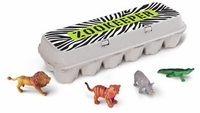 'Zookeeper' Egg Carton Stickers, by Box Play