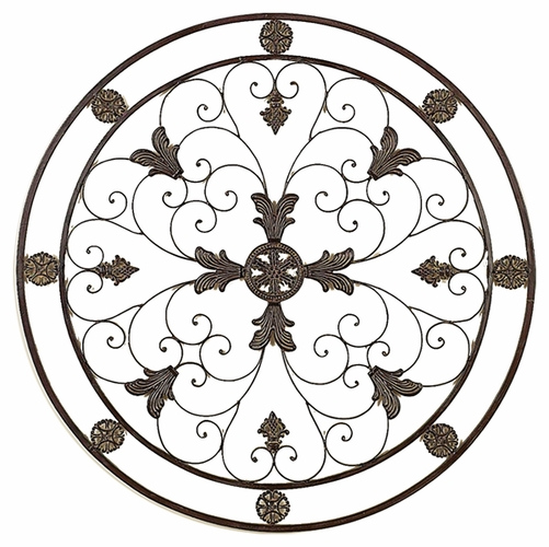 Round Wire Wall Decor : Wrought iron wall decor good decorating ideas