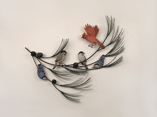 Metal Wall Decor With Birds : Latest washroom designs and modern country bathroom decor