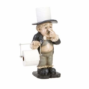 Butler statue toilet paper holder pictures to pin on pinterest pinsdaddy - Butler toilet paper holder ...