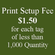 Custom Printing Setup Fee