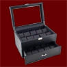 CARBON FIBER WATCH CASE RED STITCHING HOLDS 20