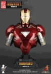 1/4th Iron Man 2 Mark VI Collectible Bust Hot toys 2010 Toy Fairs Exclusive (Mark 6)