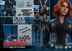 """12"""" Avengers Age of Ultron Black Widow 1/6th Scale Action Figure Hot Toys"""