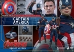"""12"""" Avengers Age of Ultron Captain America 1/6th Scale Action Figure Hot Toys"""