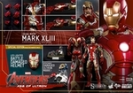 """12"""" Avengers Age of Ultron Iron Man Mark XLIII 1/6th Scale Action Figure Hot Toys Diecast Series (Mark 43) Special Exclusive"""