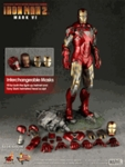 "12"" Iron Man 2 Mark VI 1/6th Scale Action Figure Hot Toys (Mark 6)"