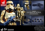 "12"" Star Wars Stormtrooper Gold Chrome Version 1/6th Scale Action Figure Hot Toys 2016 Convention Exclusive"