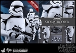 "12"" Star Wars The Force Awakens First Order Stormtrooper Squad Leader 1/6th Scale Action Figure Hot Toys Exclusive"